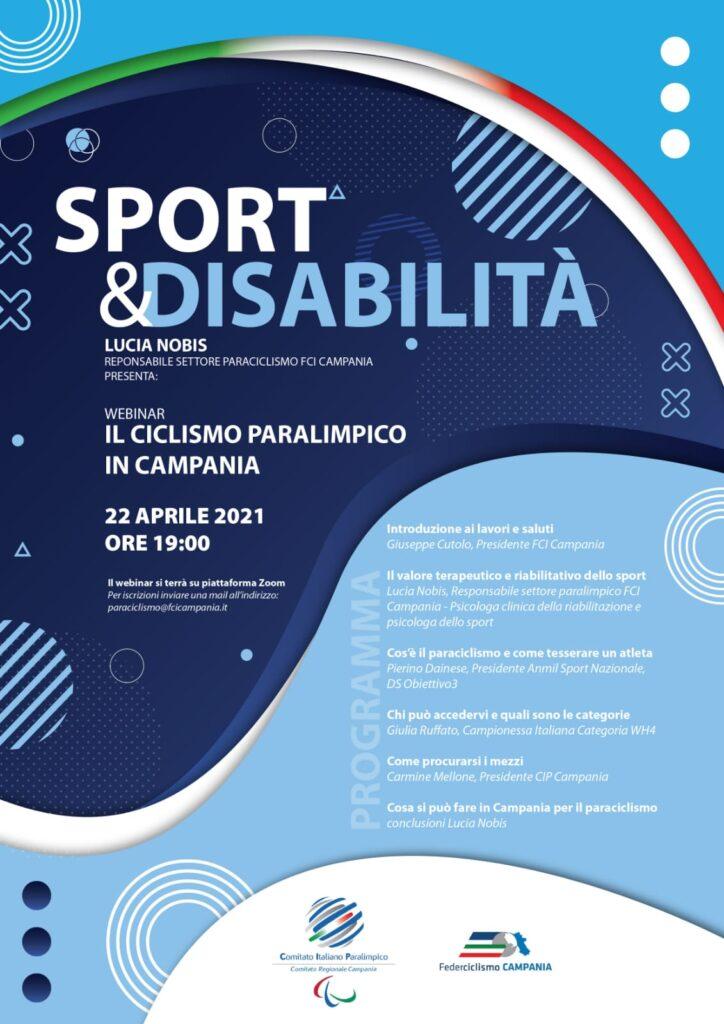 Sport e Disabilità 22 Aprile webinar con Lucia Nobis